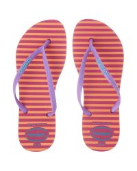 Havaianas - Pink Slim Flip Flop Strip - Lyst