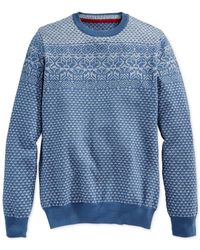 American Rag | Blue Triangle Fair-isle Sweater for Men | Lyst
