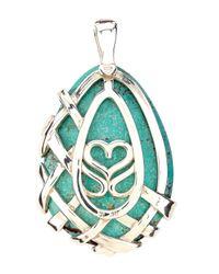 Slane | Green Crescent Weave Turquoise Pendant | Lyst