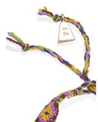 Lucy Folk | Pink Rose Gold Taco Friendship Bracelet | Lyst
