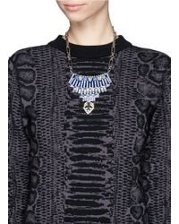 Iosselliani | Metallic Crystal Plastron Necklace | Lyst