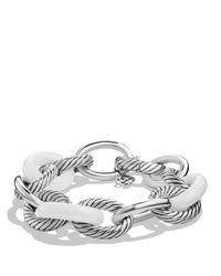 David Yurman - White Oval Extra-large Link Bracelet - Lyst