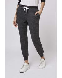 TOPSHOP   Gray Petite Brushed Joggers   Lyst