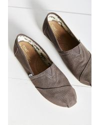TOMS - Gray Canvas Women's Classics Slip-on Shoe - Lyst