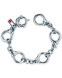Tommy Hilfiger   Metallic Stainless Steel Classic Signature Link Bracelet   Lyst