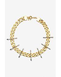 Nasty Gal | Metallic Luv Aj Vertigo Spike Necklace | Lyst