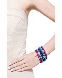 Sydney Evan - Blue Ruby and Diamond Lady Bug Charm Beaded Bracelet - Lyst