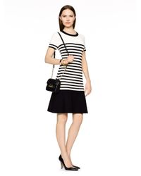 Kate Spade | Natural Drop Waist Stripe Scuba Dress | Lyst