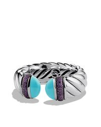 David Yurman | Blue Waverly Bracelet, 25mm | Lyst