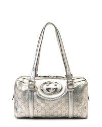 Lyst - Gucci Silver Handbag in Metallic 65f5f29223aa4
