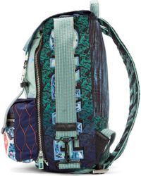 KENZO - Green Mint Signature Prints Urban Backpack for Men - Lyst