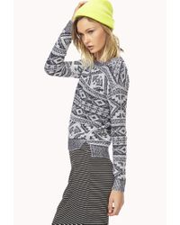 Forever 21 - Gray Southwest Bound Sweater You've Been Added To The Waitlist - Lyst