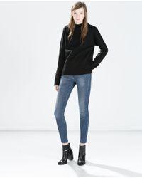 Zara | Blue Jeggings Body Curve | Lyst