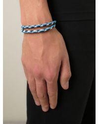 Tod's | Blue Braided Bracelet for Men | Lyst
