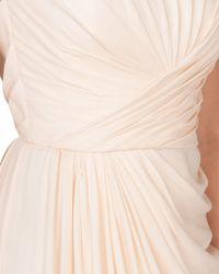 Badgley Mischka   Pink Silk Chiffon Bustier Evening Gown   Lyst