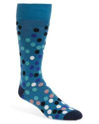 Paul Smith - Blue 'falling Dot' Socks for Men - Lyst
