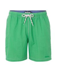 Barbour - Green Drawstring Board Shorts for Men - Lyst