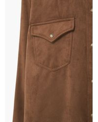 Mango - Brown Flap Pocket Shirt - Lyst