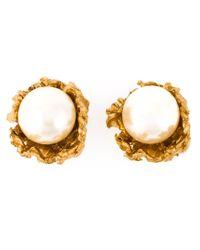 Alighieri | Metallic Pearl Stud Earrings | Lyst