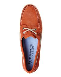 Sperry Top-Sider | Orange Authentic Original 2-Eye Boat Shoes for Men | Lyst