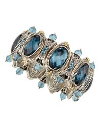 Konstantino | Sterling Silver & 18k Gold London Blue Topaz Bracelet | Lyst