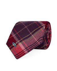 Vivienne Westwood | Purple Tartan Wool Tie for Men | Lyst