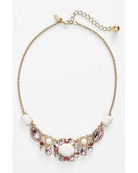 kate spade new york | Multicolor 'Garden Bed Gems' Frontal Necklace | Lyst