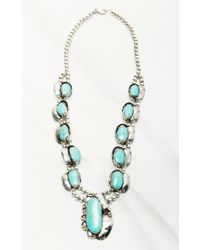 Natalie B. Jewelry | Blue Long Two Raven Necklace | Lyst
