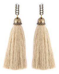 Lanvin | Natural Tassel Earrings | Lyst