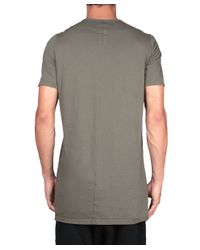 DRKSHDW by Rick Owens - Green Level T-shirt With Patch for Men - Lyst