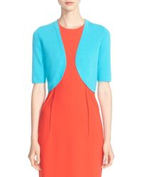 Michael Kors | Blue Merino Wool Shrug | Lyst