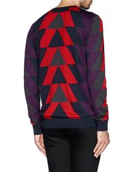PS by Paul Smith - Multicolor Geometric Merino Wool Sweater for Men - Lyst