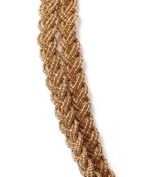 Forever 21 - Metallic Braided Chain Layered Necklace - Lyst