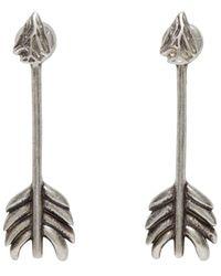 Pamela Love | Metallic Ssense Exclusive Silver Shooting Arrow Earrings | Lyst