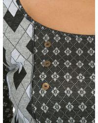 Samya - Multicolor Plus Size Geometric Check Print Dress - Lyst