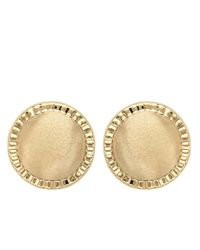 Lord & Taylor | Metallic 14k Yellow Gold Button Earrings | Lyst