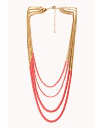 Forever 21 - Neon Pop Layered Necklace - Lyst