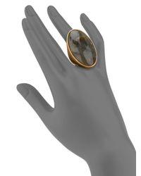 Stephanie Kantis | Metallic Empress Labradorite Cabochon Ring | Lyst