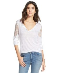Joe's Jeans | White 'ginelle' Lace Tee | Lyst