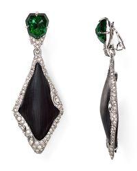 Alexis Bittar | Black Lucite Fancy Dangling Clip On Earrings | Lyst