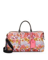 Rebecca Minkoff - Multicolor Floral-print Leather Weekender Bag - Lyst