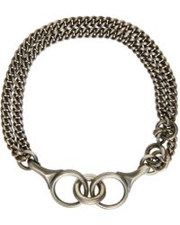 Ann Demeulemeester | Metallic Silver Curb Chain Bracelet for Men | Lyst
