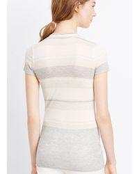 Vince - Multicolor Engineered Stripe Short Sleeve Tee - Lyst