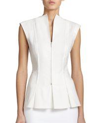 Akris Punto | White Cotton Zip-front Shirt | Lyst