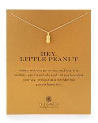 """Dogeared - Metallic Gold-dipped """"hey - Lyst"""