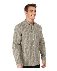 Volcom | Natural Everett Mini Check Long Sleeve Woven for Men | Lyst