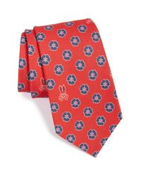 Psycho Bunny - Red Floral Silk & Wool Tie for Men - Lyst
