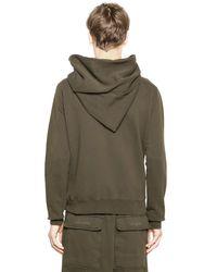 Rick Owens - Brown Drkshdw Hooded Zip-up Cotton Sweatshirt - Lyst