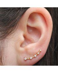 Anne Sisteron - 14kt Yellow Gold Diamond Organic Ear Cuff - Lyst