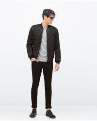 Zara | Black Quilted Jacket for Men | Lyst